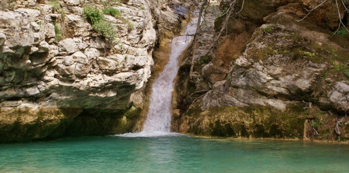 Kythira het eiland - de watervallen van Mylopotamos
