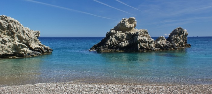 Het eiland Kythira - het strand Kaladi