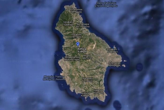 Locatie Xenonas Fos ke Choros op Kythira