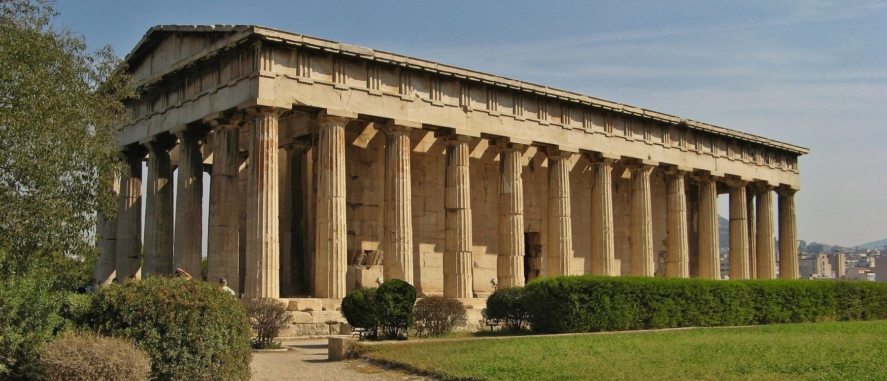 Overnachting in Athene - de tempel van Hephaestos