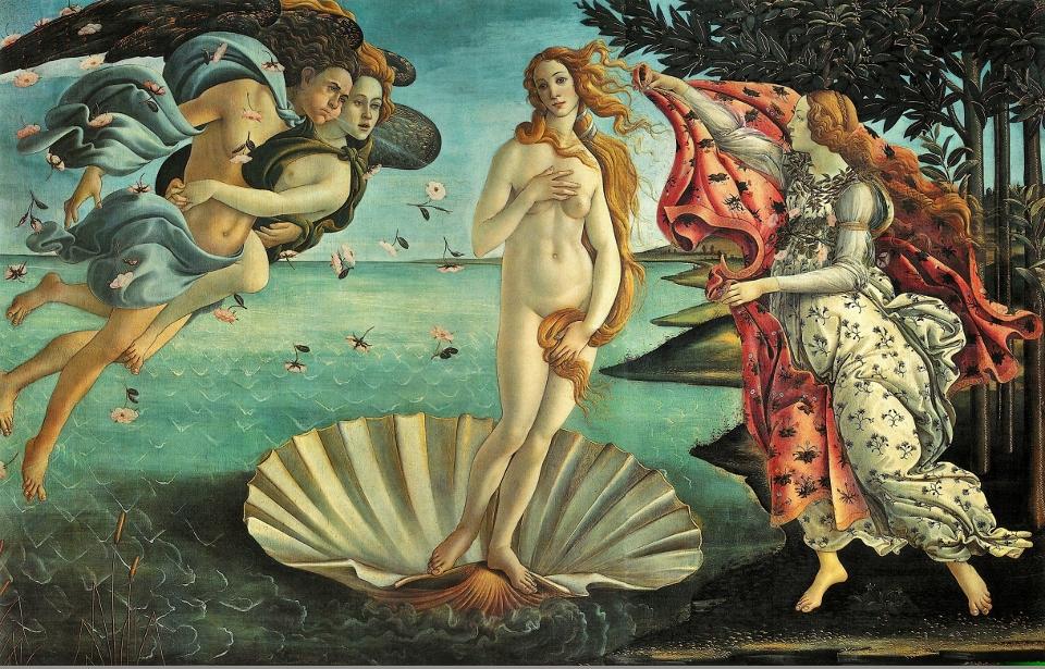 Het eiland Kythira - Aphrodite van Botticelli