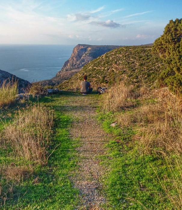 A trail in Kythira; photo by Abbie Synan