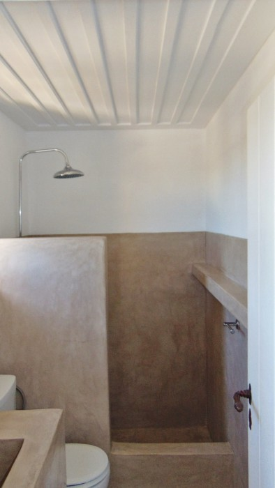 Bruine studio - badkamer