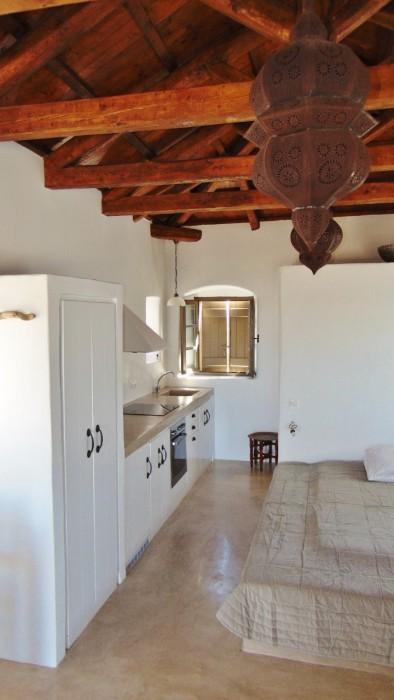 Bruine studio - keuken