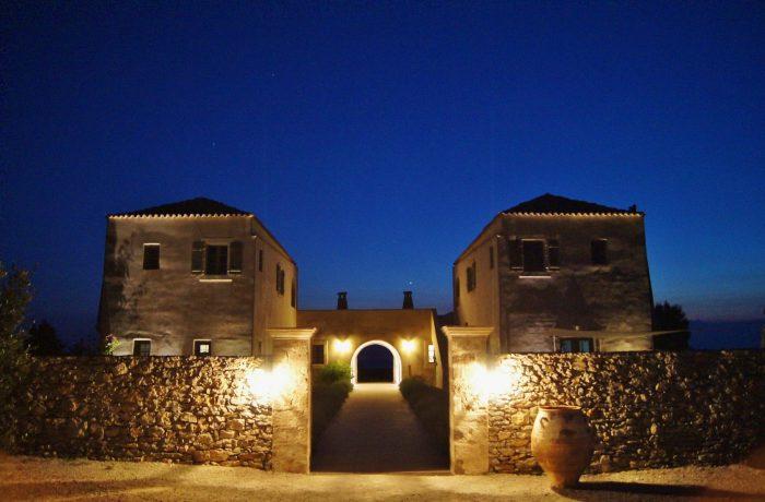 Guesthouse bij nacht